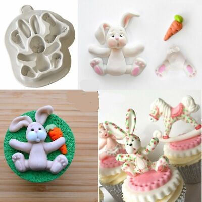 Easter Bunny Silicone Mold Fondant Baking Pastry Cake Tools Kitchen Accessories for sale  Shipping to Canada