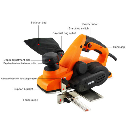 Profi Elektrohobel Hobel Hobelmaschine 900W 82mm 3mm Einhandhobel Handhobel DIY