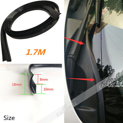 1.7m Car Rubber Seal Under Front Windshield Panel Sealed Trim Moulding Strips US ()