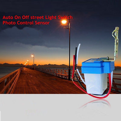 Auto On Street Light Switch Photo Control Sensor Ac 12v24v220v 10a Ass