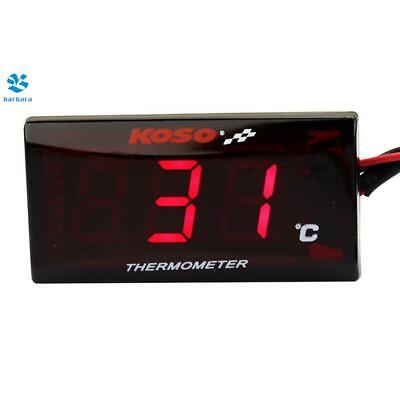 Motorcycle LCD Thermometer Instrument Water Temp Meter Gauge For Racing Scooter