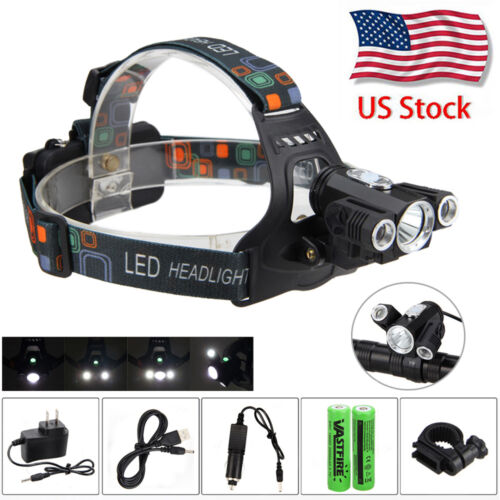 Bike Cycling COB LED Front Head Light Headlight,Black H6K1 Senza batteria