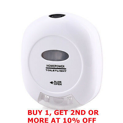 New Led Sensor Motion Activated Automatic Toilet Night Light Lamp Red Green