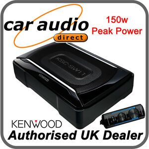 Kenwood KSC-SW11 Compact Under Seat 150W Active Amplified Powered Subwoofer Sub