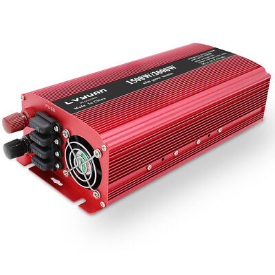 3000W Converter Modified Sine Wave Power Inverter 12V Dc to 230V AC USB 2 Socket