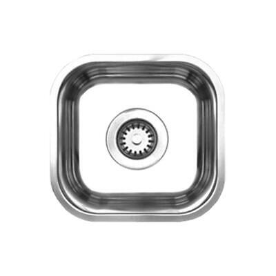 Noahs Single Bowl (Whitehaus Noahs Undermount Brushed Stainless Steel 13 in. Single Bowl Prep Sink )