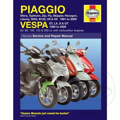 Vespa ET2 50 2T 1997-2003 Haynes Service Repair Manual 3492