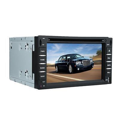 "6"" 2 DIN HD Car DVD Player GPS Navigation Bluetooth AM FM Radio VCD CD MP5 G0Y7"