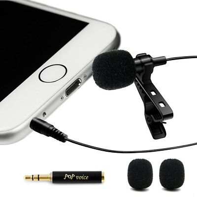 Professional #1 Best Lavalier Lapel Microphone Omnidirectional Condenser Mic