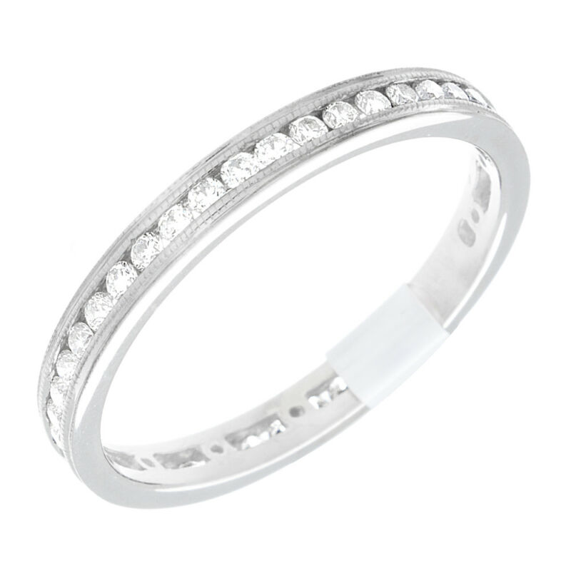 14k White Gold Round Brilliant Shape Diamond Eternity Ring 4.00 Carat