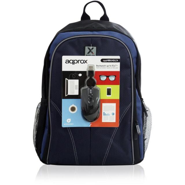 APPROX APPNBBUNDLES4 15.6 Inch Laptop Backpack & USB Optical PC Mouse Set