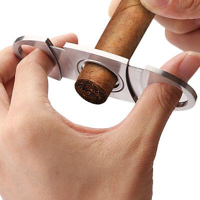 Edelstahl Zigarrenschneider 2 Klingen Zigarrenabschneider Zigarren Cigar Cutter