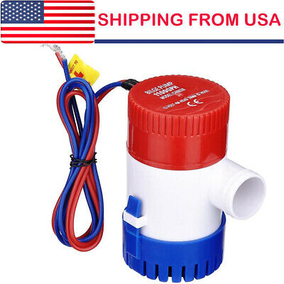 1100GPH 12V Electric Marine Submersible Bilge Sump Water Pump for Boat Yacht ()