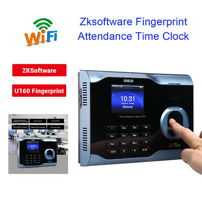 3 Zk U160 Biometric Fingerprint Time Attendance Clock Recorder Punch Inout