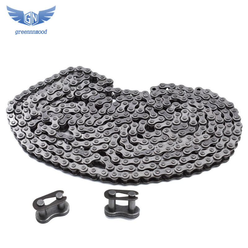 #35 Roller Chain 10 Feet with 2 Connecting Links Roller Diameter (dmax) : 0.200