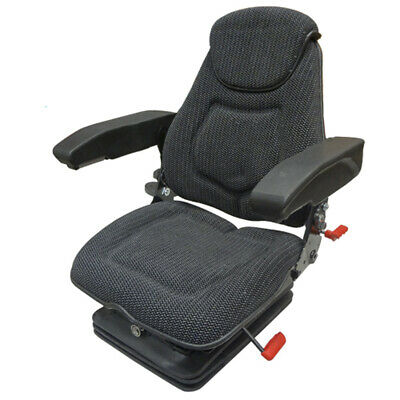 Faa1214 Seat Assembly Air Ride Head Rest Arm Rests Lumbar Black Fabric