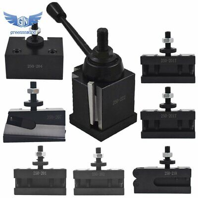 Bxa 250-222 Wedge Type Tool Post For Lathe 10 - 15 With 7pc Tool Holders