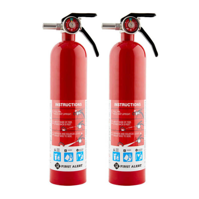First Alert Rechargeable Home Fire Extinguisher ABC 2.5 Pound 2 PACK