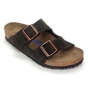1922a1d298c Birkenstock Arizona Regular Soft Footbed Suede Sandals Mocha EU 41 US W10 M8