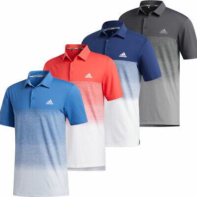 adidas Golf Ultimate 1.1 Print Mens Short Sleeve Polo Shirt UV 50+ // NEW 2020
