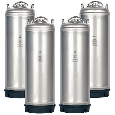4 Pack New 5 Gallon Ball Lock Kegs Amcyl - Homebrew Beer - Soda - Free Shipping