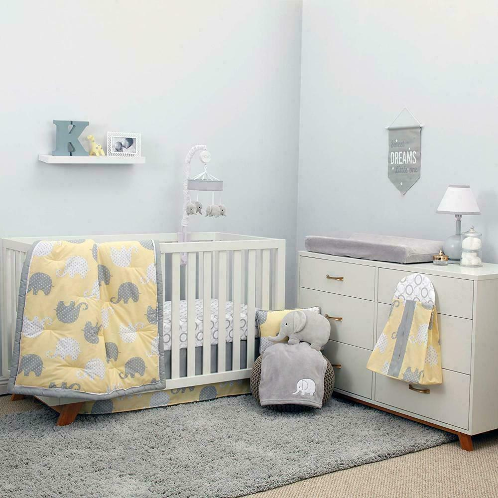 NoJo The Dreamer Collection Elephant Blue/Grey 8 Piece Crib