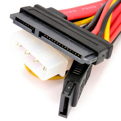 SATA COMBO Cable Data & Molex to S-ATA Power Lead 50cm 0.5m