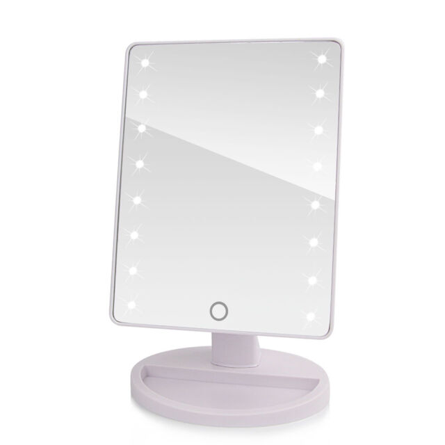 16 LED Touch Screen Portable Tabletop Lighted Cosmetic Vanity Makeup Mirror  Hot