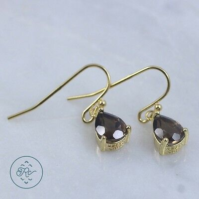 Sterling Silver | VICTORIA TOWNSEND Smoky Quartz 2g | Dangle Earrings