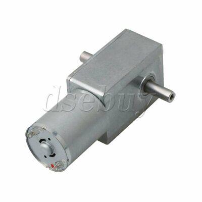 12v Dc 130rpm D-type Low Speed High Torque Dc Worm Turbo Gear Motor