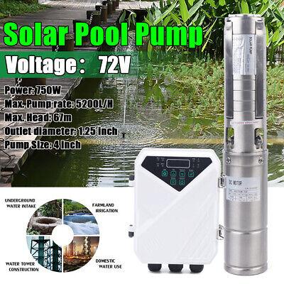 4 Dc Solar Water Pump Submersiblemppt Controller Deep Bore Well 750w 72v Usa
