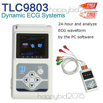 Tlc9803 Holter Ecg 3 Channel 24h Dynamic Analyzer Recorderpc Software.contec