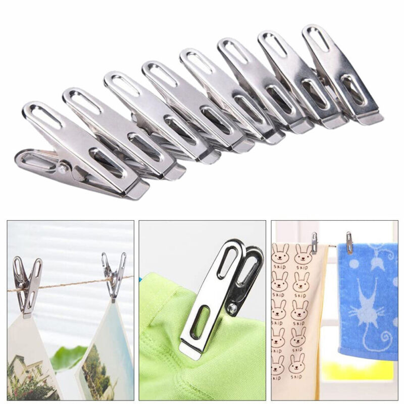 40//200 Stainless Steel// Metal Clothes Pegs Washing Lines or Airer Pins Clamps