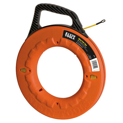 Klein Tools 50ft Nylon Fish Tape Non Conductive Wire Cable Puller