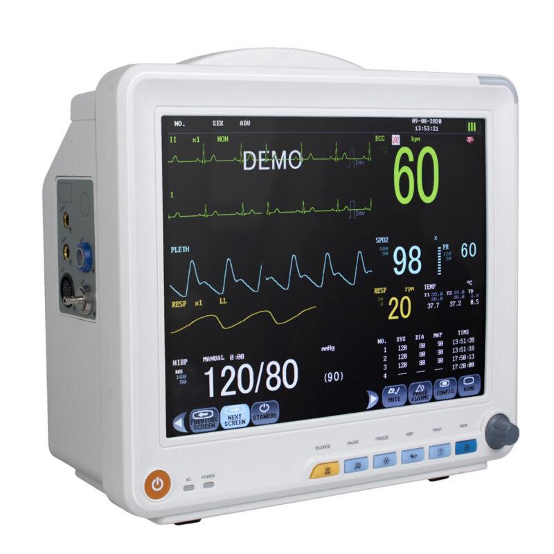 US SHIP Digital Vital Sign Patient Monitor ECG NIBP RESP TEMP SPO2 PR6-parameter