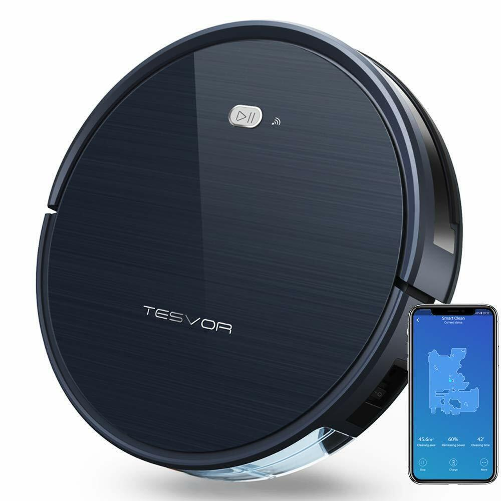 Tesvor Robot Vacuum Cleaner With Alexa App For Floors And Ca