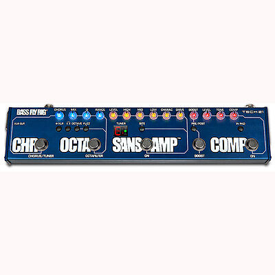 Tech 21 Bass Fly Rig Multi Effects Pedal Chorus Boost Sans Amp Compressor Octave