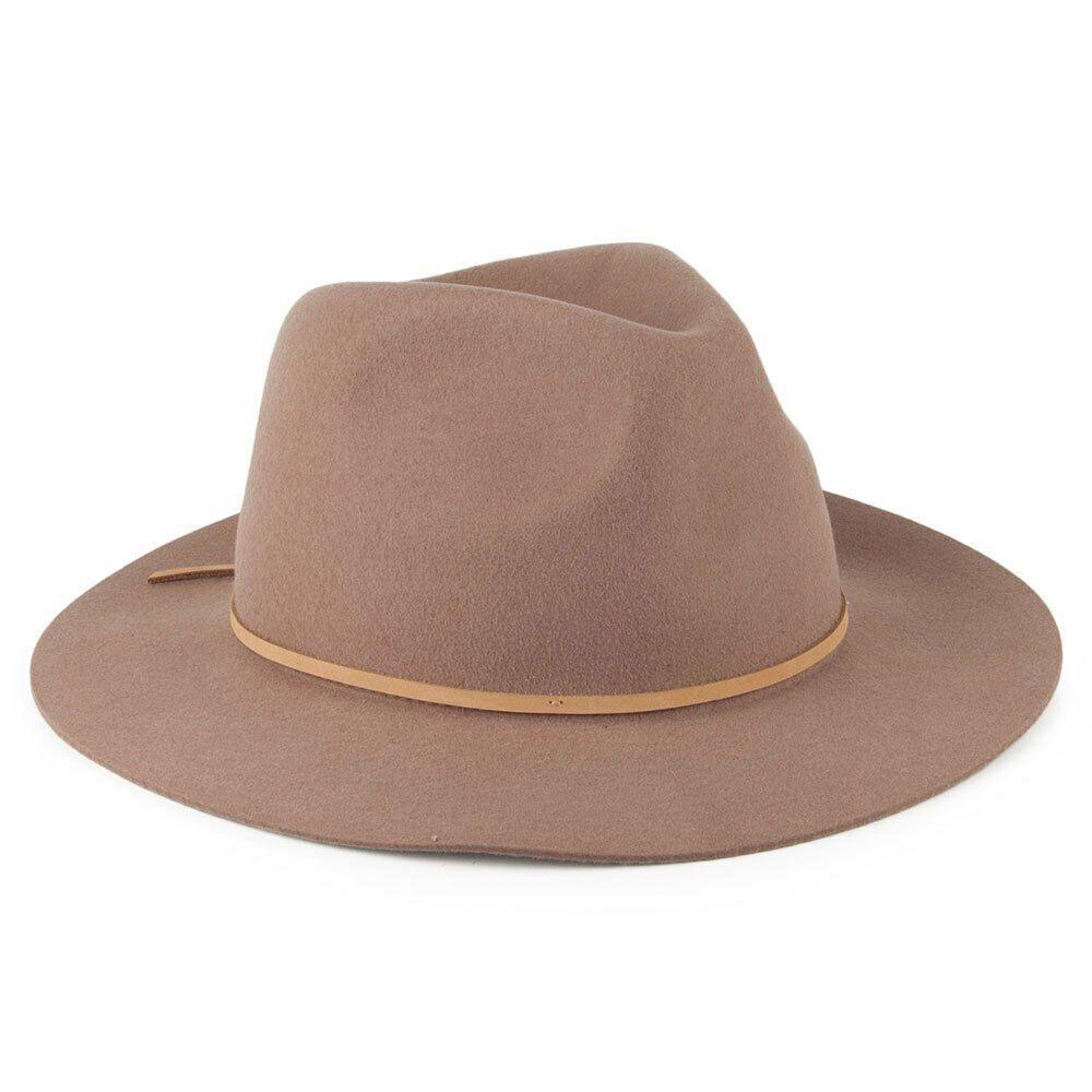 26aadab4f69b0 Brixton Wesley Fedora Hat - Natural Sand- Size Medium 58cm   7.25 ...