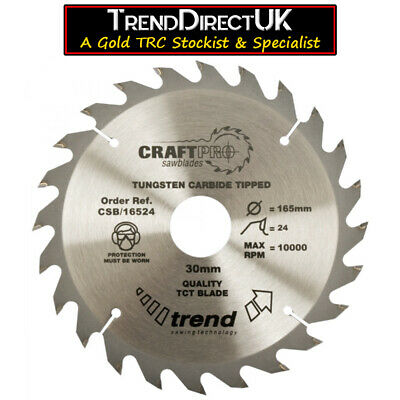 Trend CraftPro TCT Wood Saw Blade - Circular, Table & Mitre Saw -  FULL RANGE