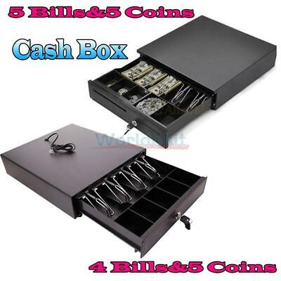 Cash Money Drawer Box 4 Bill5 Bill 5 Coin Tray Compatible Works Wpos Rj11 Us