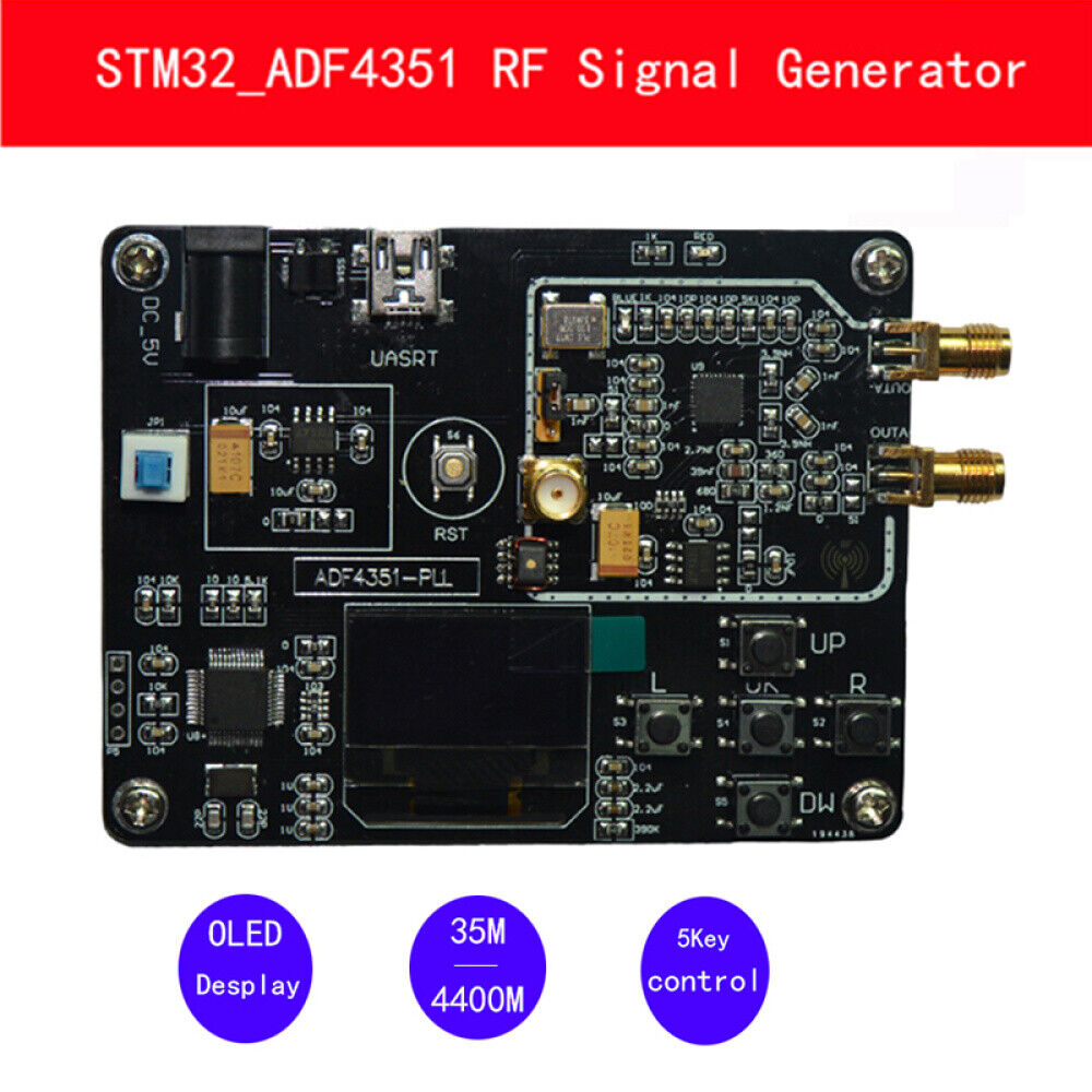 ADF4350 development board 137Mhz-4.4Ghz signal generator signal source