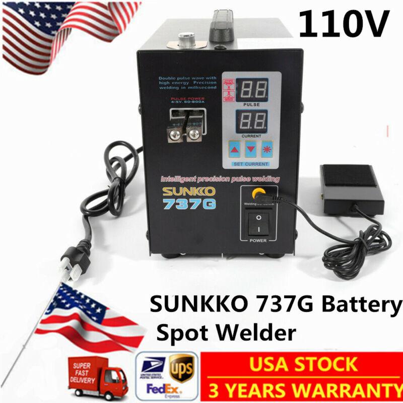 110V SUNKKO 737G Battery Spot Welder Solder Welding Machine 50A-800A US SHIP