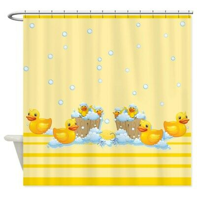 CafePress Rubber Duckies Yellow Shower Curtain -