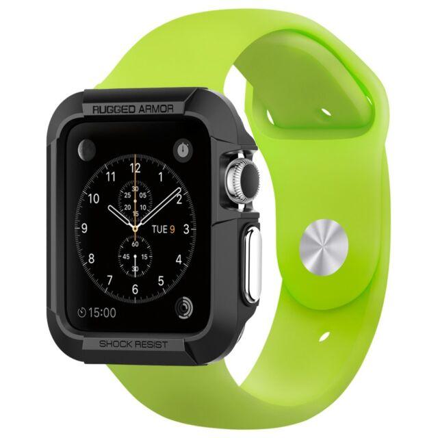 Spigen Apple Watch Case Series 1/2 (42mm) Rugged Armor Case Black