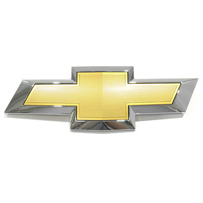 OEM NEW Front Bumper Grille Bow Tie Emblem Gold Chrome 13-14 Traverse 23302976