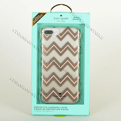 Kate Spade iPhone 7 Plus iPhone 8 Plus Hard Shell Case Blush Gold Chevron/Clear
