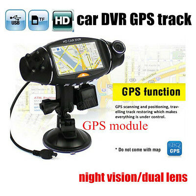 R310 Full HD Dual Lens Car DVR Camera Dash Cam Video Recorder Night Vision 2.7