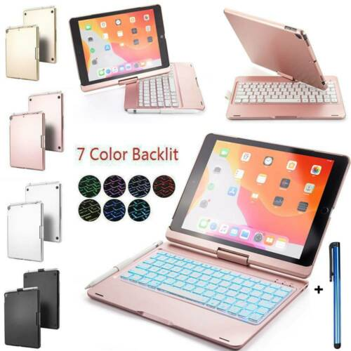 For iPad 10.2 2019 7th Gen Wireless Bluetooth Backlit Keyboa