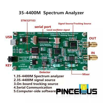 35-4400m Usb Spectrum Analyzer Tracking Source Rf Frequency Domain Analysis Tool