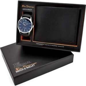 Ben Sherman Blue Dial Black Strap Gents Watch & Wallet Gift Set BS120G